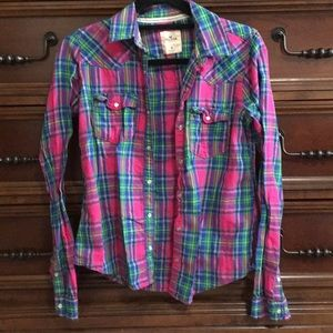 💕3 for 10💕 Hollister flannel shirt M